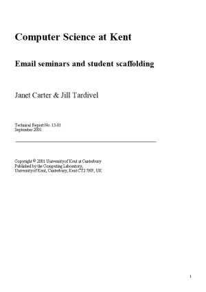 Email Seminars and Student Scaffolding