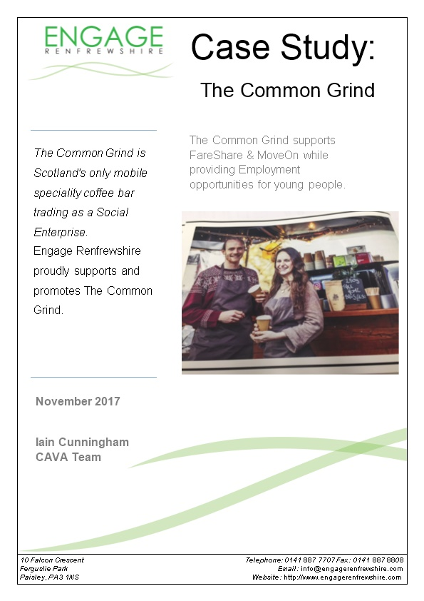 Engage Renfrewshire Is Committed to Promote, Develop, Grow and Support Local Third Sector