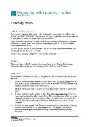 English: Teachers Notes
