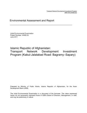 Environmental Assessment and Report