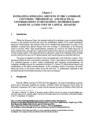 Estimating Dwelling Services in the Candidate Countries: Theoretical and Practical