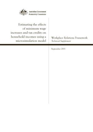 Estimating the Effects of Minimum Wage Increases and Tax Credits on Household Incomes Using