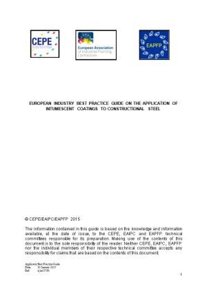 European Industry Best Practice Guide on the Application of Intumescent Coatings To