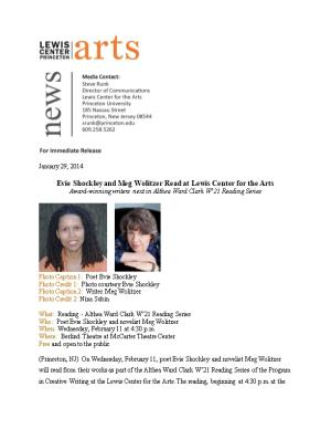 Evie Shockley and Meg Wolitzerread at Lewis Center for the Arts