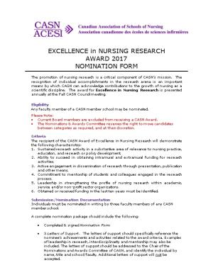 EXCELLENCE in NURSING RESEARCH