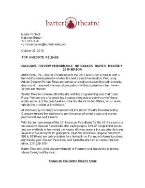 Exclusive Preview Performance Introduces Barter Theatre S 2016 Season