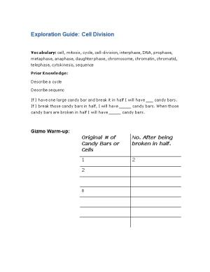Exploration Guide: Cell Division