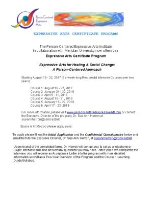 Expressive Arts Certificate Program