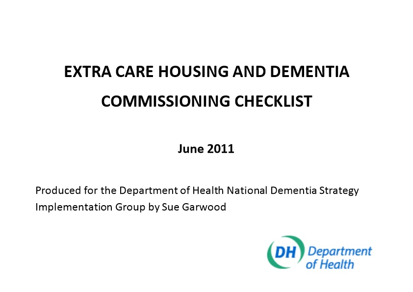 Extra Care Housing and Dementia