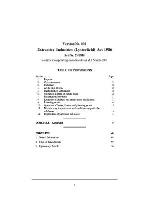 Extractive Industries (Lysterfield) Act 1986