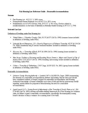Fair Housing Law Reference Guide - Reasonable Accommodationspage 1 of 3