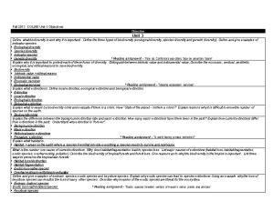 Fall 2013 COL260 Unit-3 Objectives