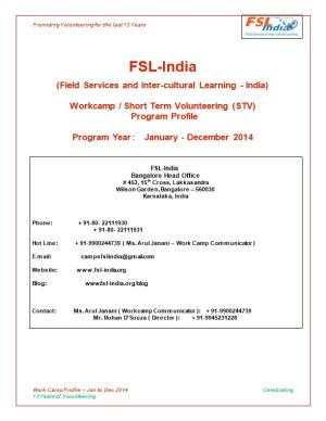 Field Services and Inter-Cultural Learning - India