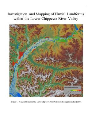 Figure 1. a Map of Terraces of the Lower Chippewa River Valley Created by (Speer Et Al. (2007