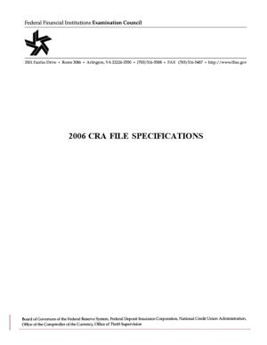 File Specifications for Reporting 2006 CRA Data