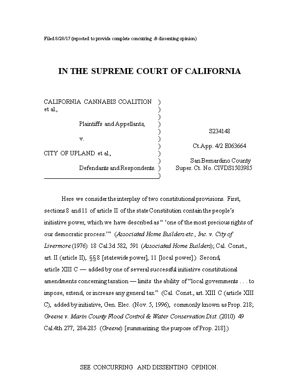 Filed 8/28/17 (Reposted to Provide Complete Concurring & Dissenting Opinion)