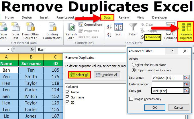 Remove Duplicates in Excel jpg