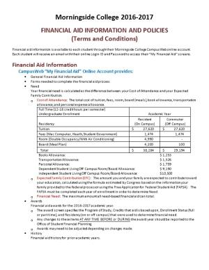 Financial Aid Information and Policies