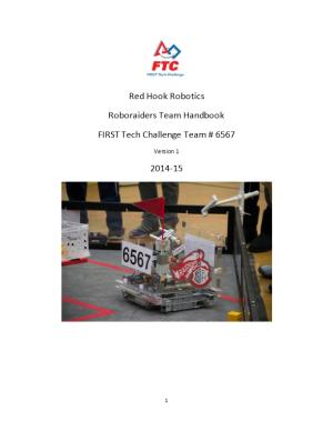 FIRST Tech Challenge Team # 6567