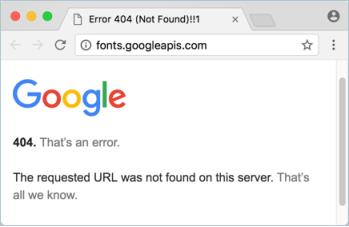 Not Found Error from Google Fonts Server png