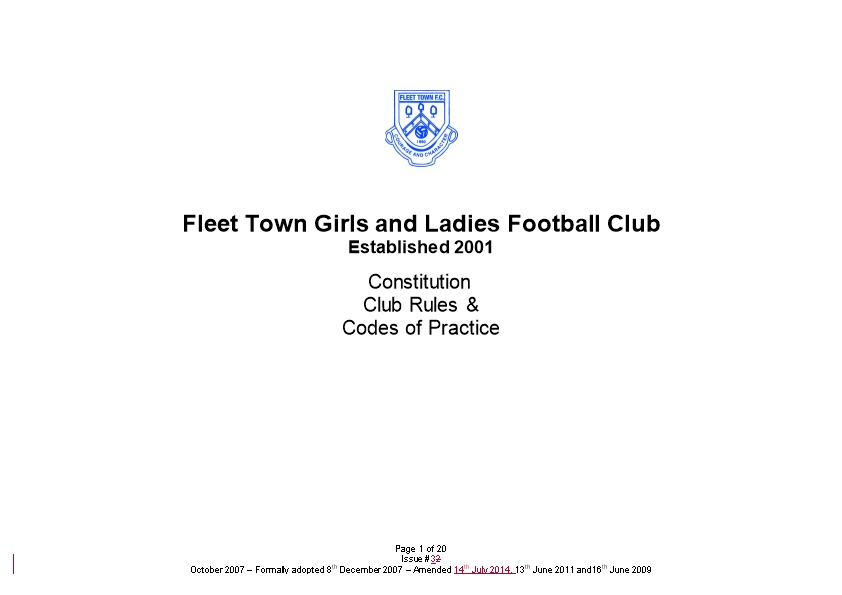Fleet Town Girls and Ladies Football Club