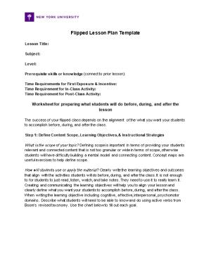 Flipped Lesson Plan Template