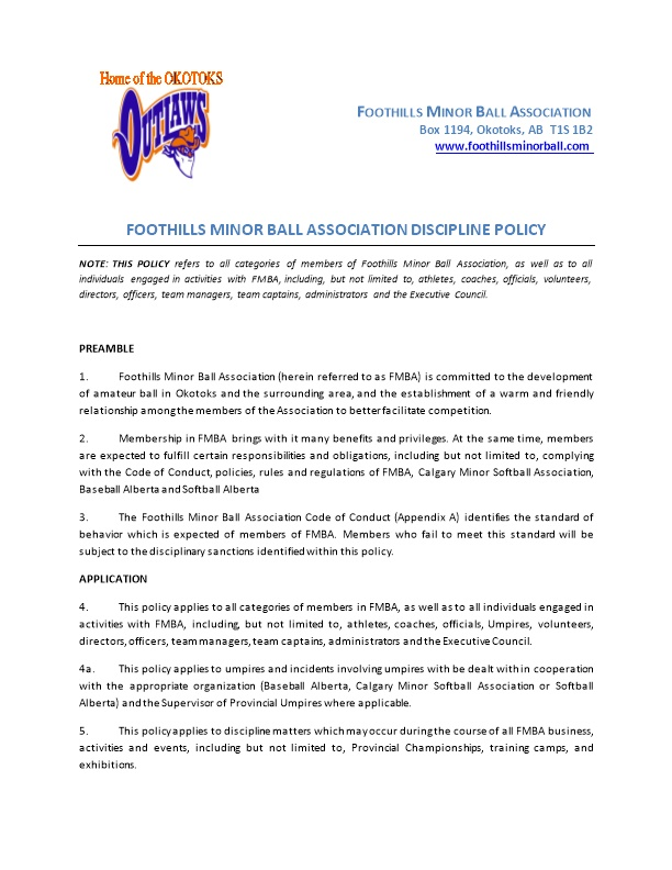 Foothills Minor Ball Association