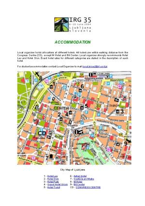 For Student Accommodation Contact Local Organiser to Mail