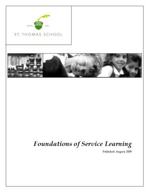 Foundations of Service Learning