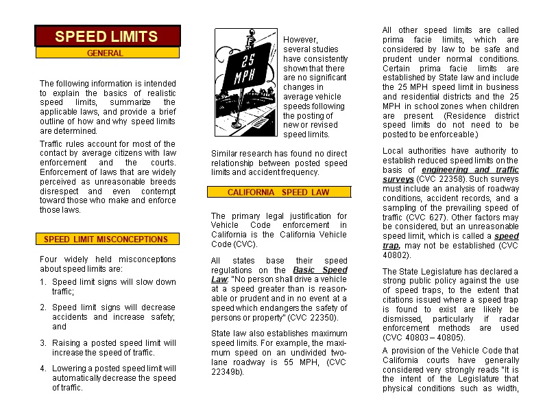 Four Widely Held Misconceptions About Speed Limits Are