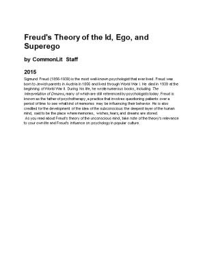 Freud's Theory of the Id, Ego, and Superego