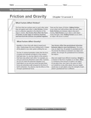 Friction and Gravitychapter 12 Lesson 3