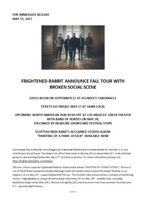 Frightened Rabbit Announce Fall Tour With