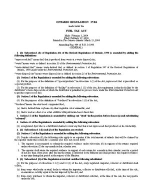 FUEL TAX ACT - O. Reg. 37/04