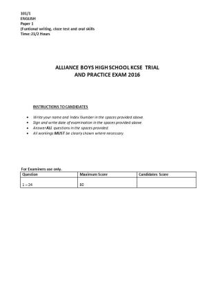 (Funtional Writing, Cloze Test and Oral Skills