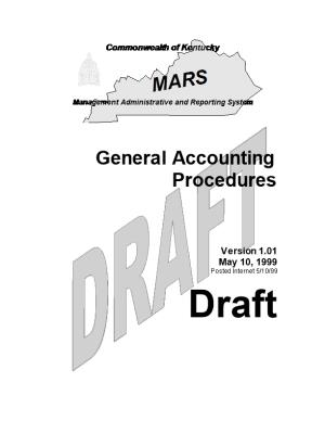 General Accounting Procedures