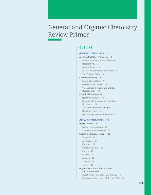 General and Organic Chemistry Review Primer