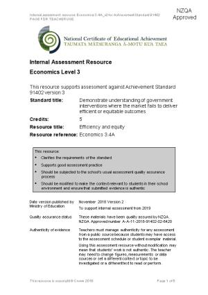 Geography Level 2 Internal Assessment Resource