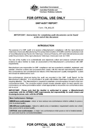 GMP Audit Report KP80F5