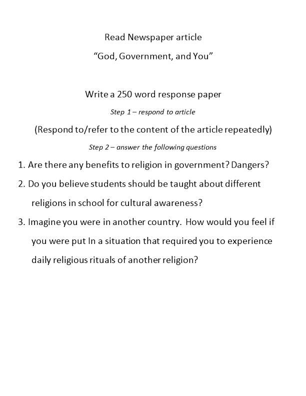 God, Government, and You