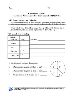 Grade 2 Statistics and Probability Page 1