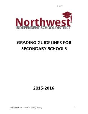 Grading Guidelines for Secondary Schools
