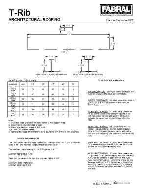 Gravity Load Table (Psf)