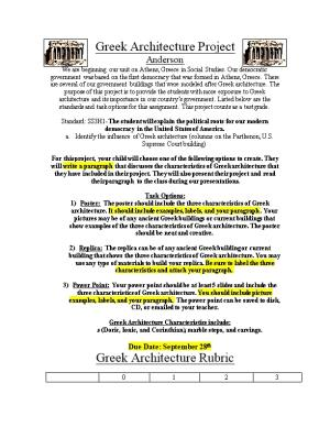 Greek Architecture Project