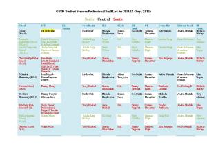 GSSD Student Services Professional Staff List for 2011/12 (Sept. 21/11)