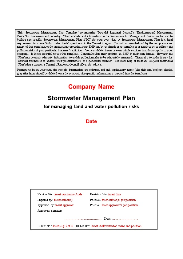 Guide to Management Plan