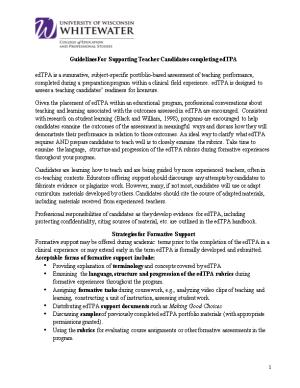 Guidelines for Supporting Teacher Candidates Completing Edtpa