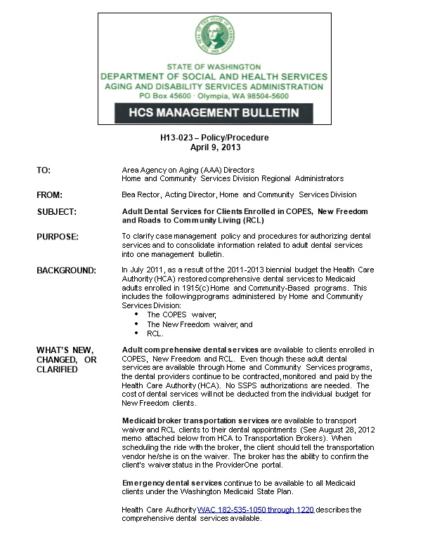 H13-023 Policy/Procedure