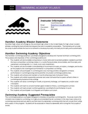 Hamilton Academy Mission Statements