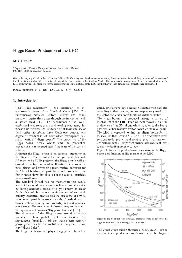 Higgs Boson Production at the LHC